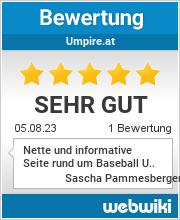 Bewertungen zu umpire.at