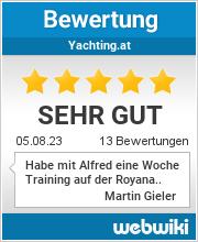 Bewertungen zu yachting.at