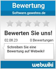 Bewertungen zu software.gawehns.de